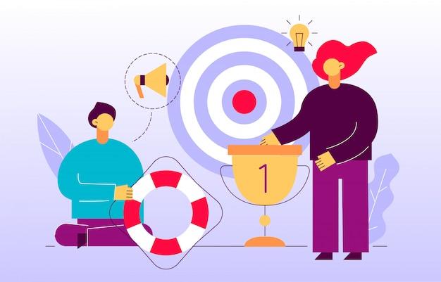 ベクトル広告とマーケティング戦略のwebページのバナー