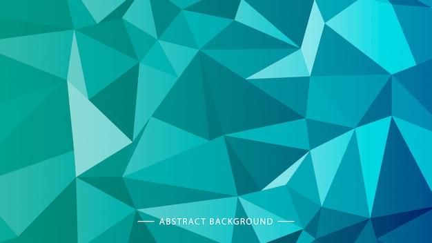 印刷またはwebサイトのための幾何学的な多角形の明るい青の背景