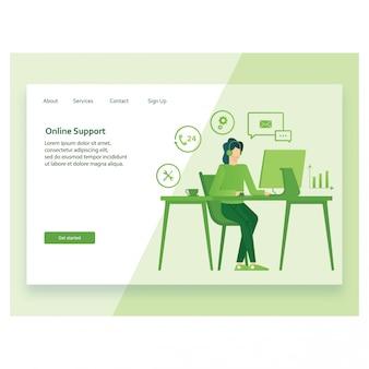コンセプトの顧客とwebページのオペレーター。