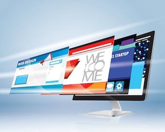 インターネットwebデザインコンセプト