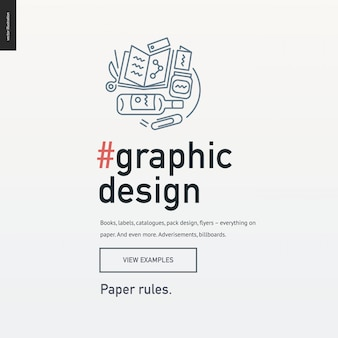 Webサイトデザインのグラフィックデザインブロックテンプレート