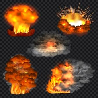 Web用に分離された爆発のリアルなイラスト