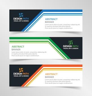ベクトル抽象的なデザインモダンなバナーwebテンプレート
