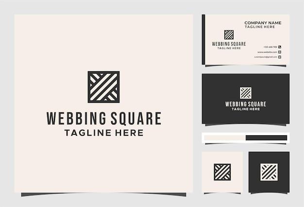 웨빙 스퀘어 아트 로고 및 명함