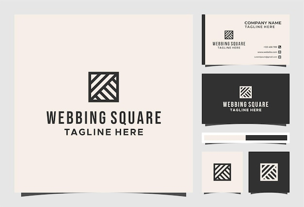 Webbing square art logo and business card