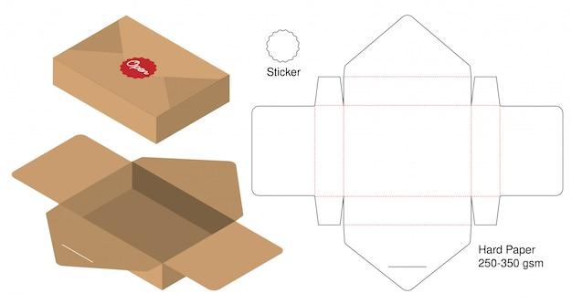 Webbox包装ダイカットテンプレートデザイン