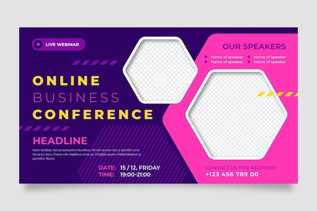 Webinar banner invitation template