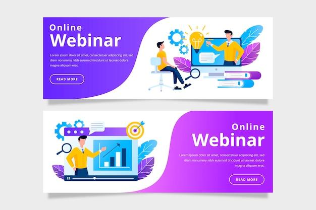 Webinar banner template