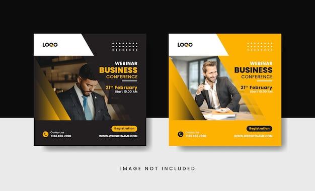 Webinar business instagram post template