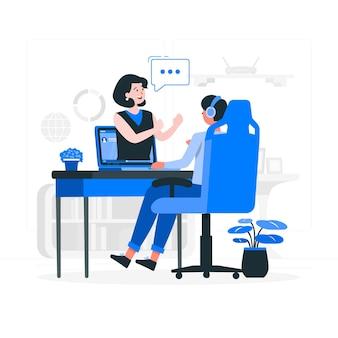 Иллюстрация концепции вебинара