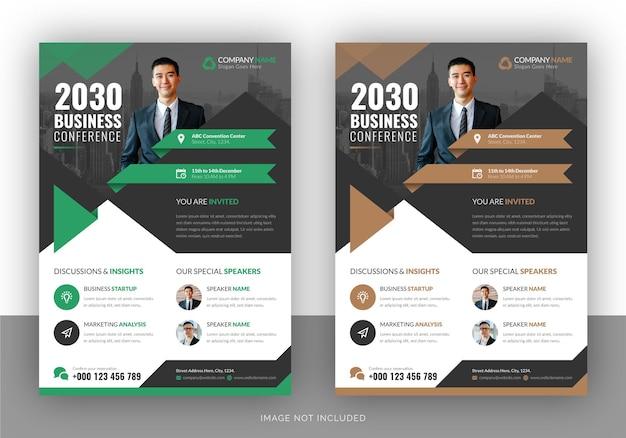 Webinar or conference flyer template
