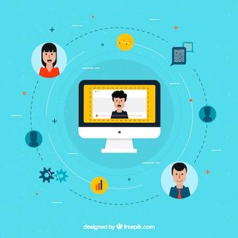 Concetto di design webinar