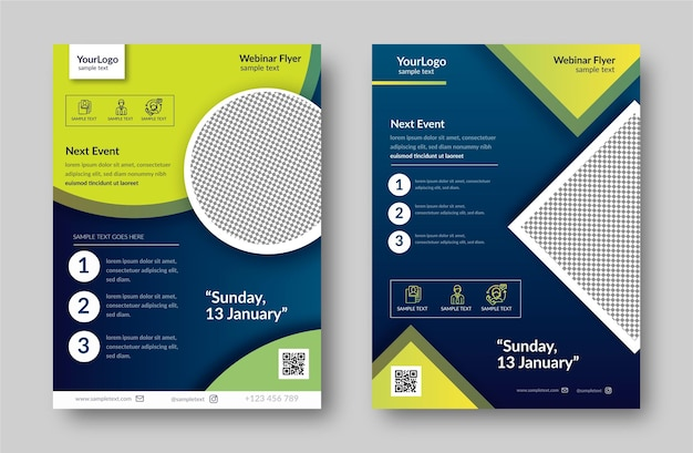 Webinar flyer template pack
