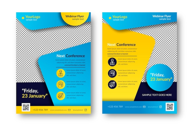 Webinar flyer template set