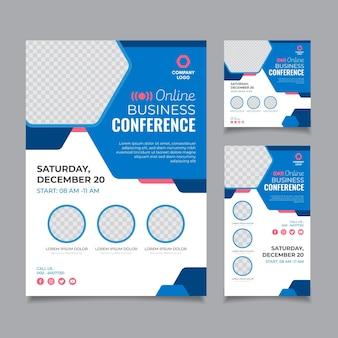 Webinar flyer template