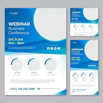 Webinar flyers template