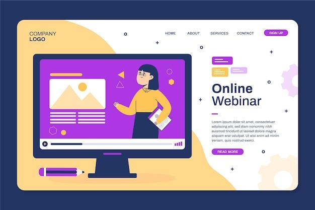 Webinar home page template