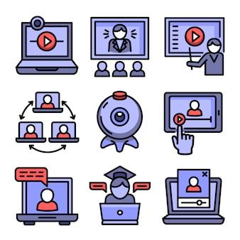 Webinar icons set