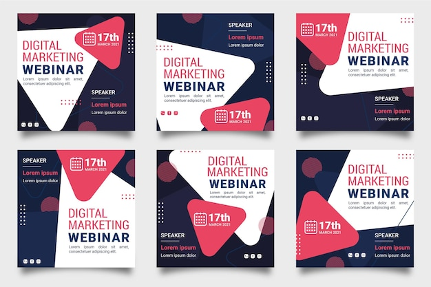 Raccolta di post su instagram webinar