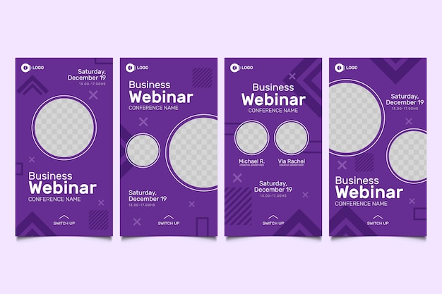 Webinar instagram stories template collection