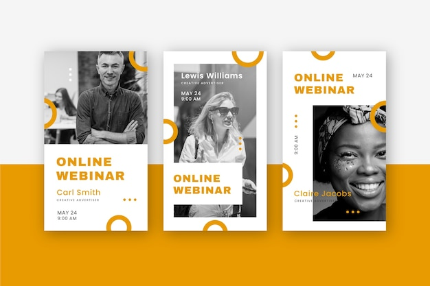 Webinar instagram stories template set