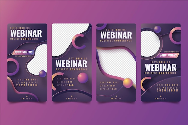 Webinar instagram story collection