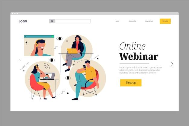 Webinar landing page template