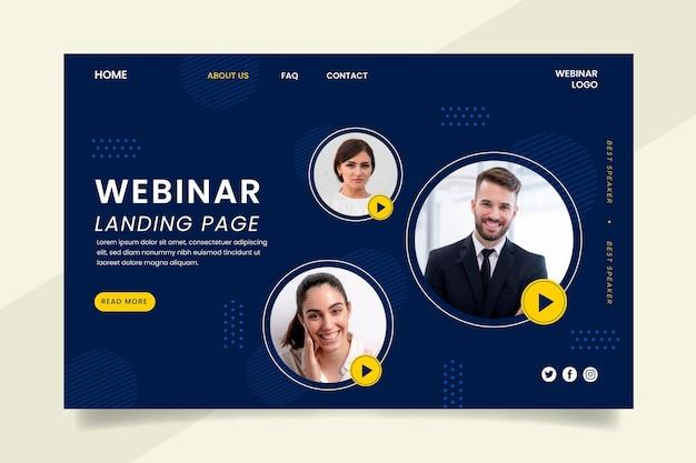 Modello di pagina di destinazione del webinar
