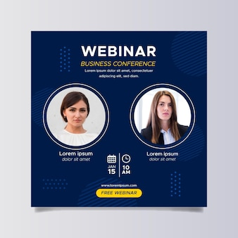 Webinar square flyer template