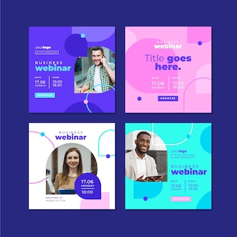 Webinar template instagram post