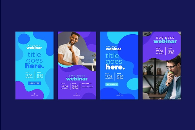 Webinar template instagram stories