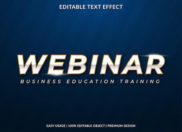 Webinar text effect template premium style