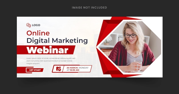 Webinar web banner template design