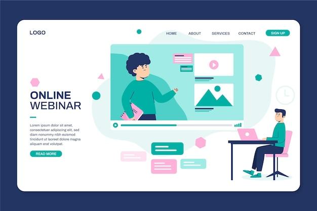 Webinar web template illustrated