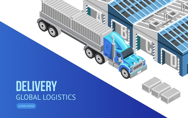 Webpage about delivery and global logistics