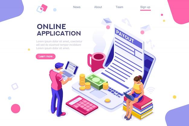 Webpage form landing page