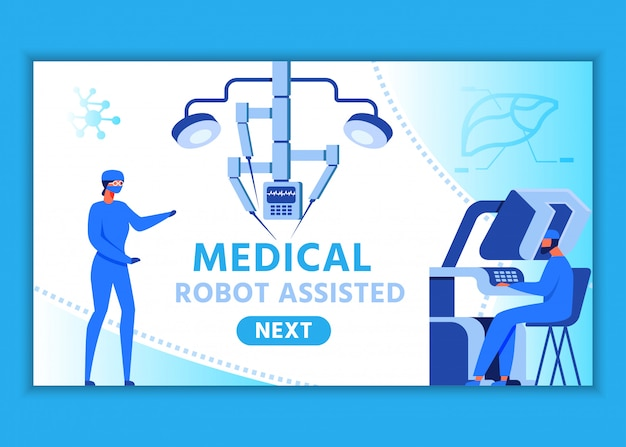 Webpage for medical robot assisted presentation