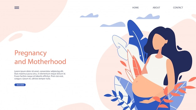 웹 사이드 배너 임신과 모성 만화