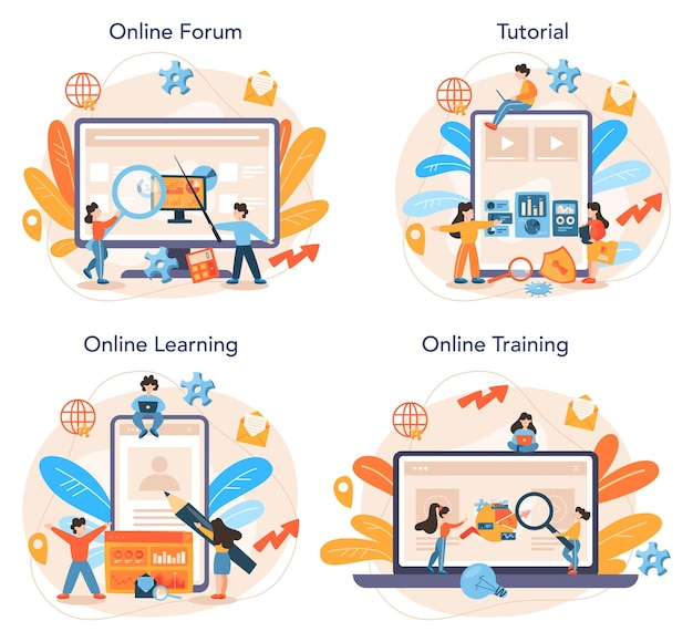 Website analyst online service or platform set