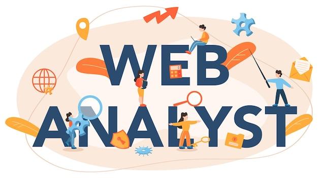 Website analyst typographic header