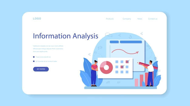 Website analyst web banner or landing page