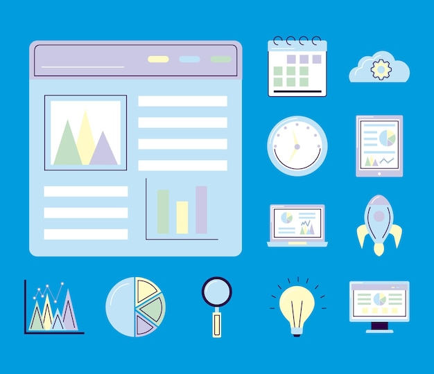 Website and analytics icons