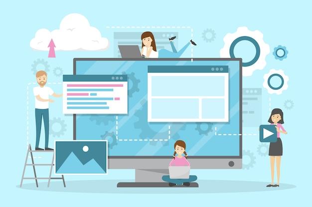 Веб-сайт и разработка горизонтального баннера.