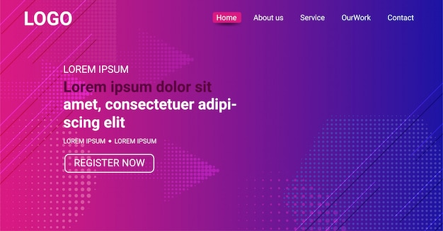Website banner, abstract purple and blue color gradient background
