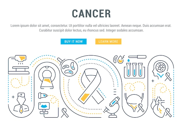 Website banner and landing page of cancer.