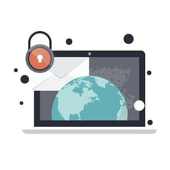 メール保護のウェブサイトバナー