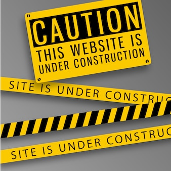 Website caution background