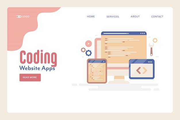 Website coding programming