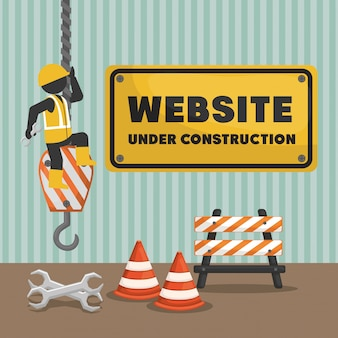 Website under construction banner
