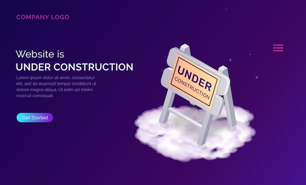 Website under construction landing page